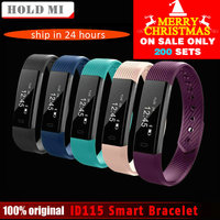 ID115 Smart Bracelet Fitness Tracker Step Counter Activity Monitor Band Alarm Clock Vibration Wristband For IOS