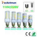E27 E14 LED Corn Light lamp AC 220 V SMD 5730 Led corn bulb lighting projector lamp 69/48/36/24Led E27 Led Bulbs