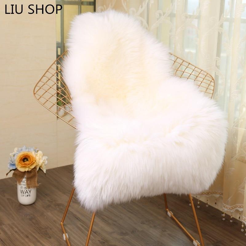 LIULong Faux Fur SHEEP RUG Artificial Skin Fluffy Chair