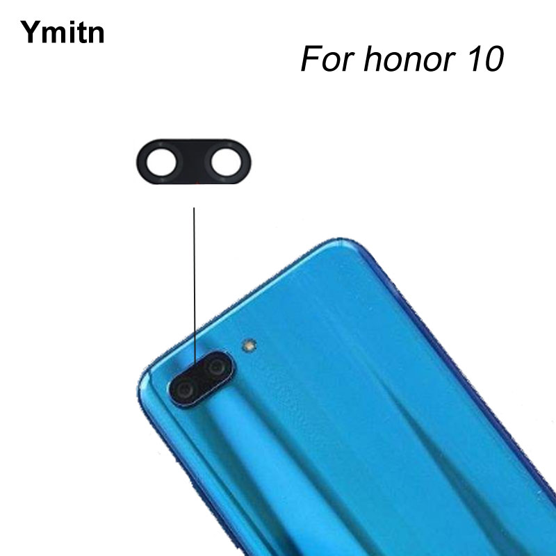 2Pcs New Ymitn  Housing Back Rear Camera Glass Lens With Adhesive For Huawei Honor 10 5.84 Inch