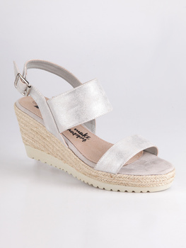 Wedge sandals-Silver