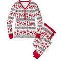 Nuevo 2016 ropa de Noche de Navidad Adultos Familia Pijamas Conjuntos de Dormir de Las Mujeres
