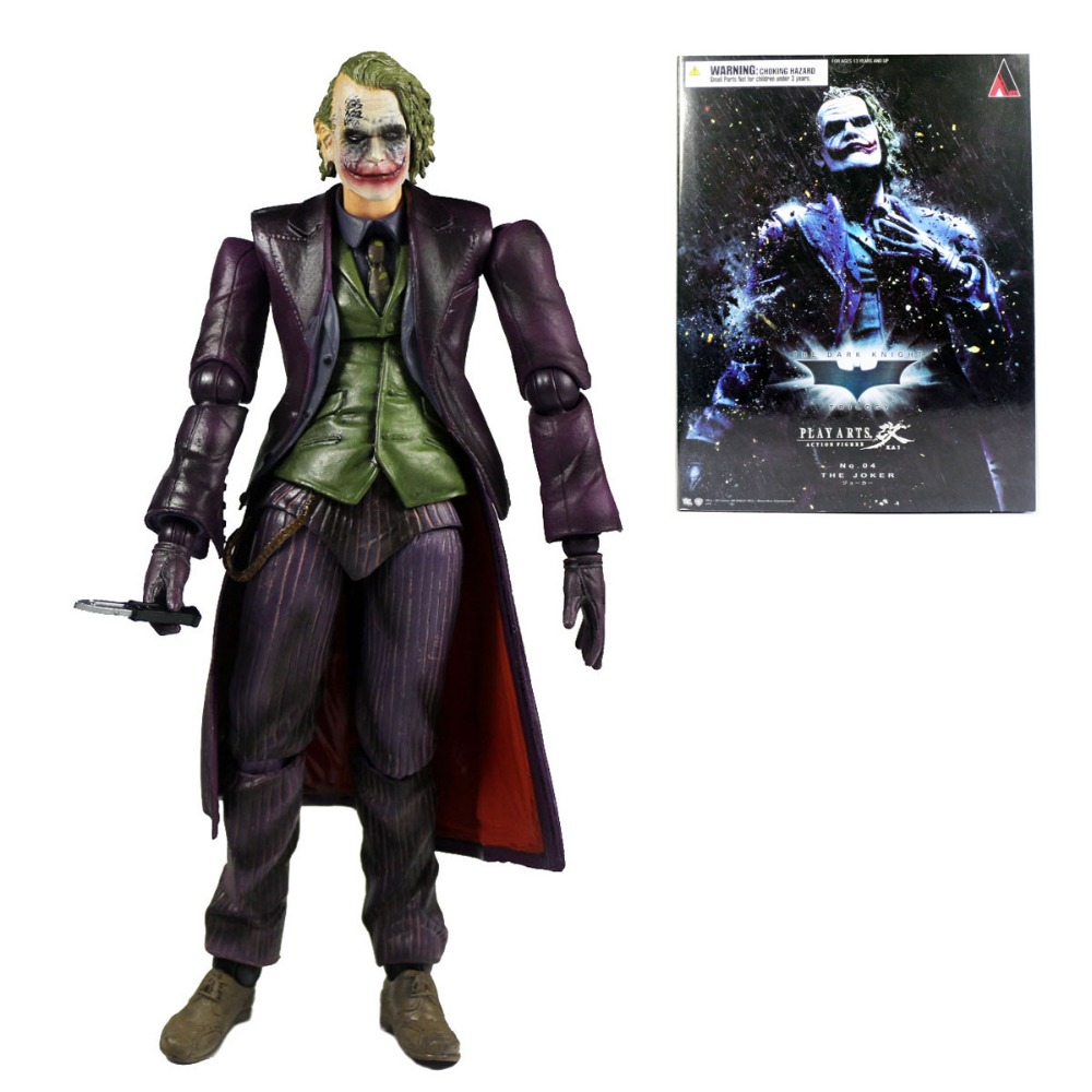 PLAY ARTS KAI Batman The Dark Knight The Joker PVC Action Figure PAK001022 batman joker action figure play arts kai 260mm anime model toys batman playarts joker figure toy