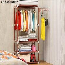LF Sxsounai Простая вешалка для пальто, напольная вешалка, креативная вешалка для одежды, полка для спальни, фойе, Железный контейнер для хранения, вешалка, мобильный шкаф для хранения