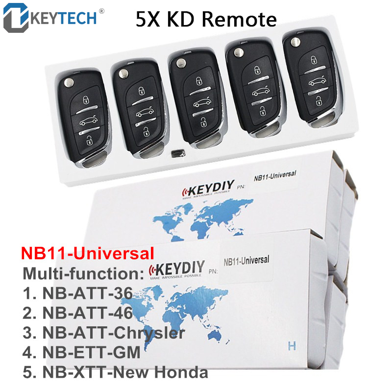 OkeyTech NB11 5 Function Chip In One Key DIY Multi functional Universal KD Remote Key for