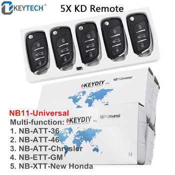 OkeyTech NB11 5 Function Chip In One Key DIY Multi-functional Universal KD Remote Key for KD900 KD900+ URG200 NB-Series 5PCS/LOT - DISCOUNT ITEM  20% OFF All Category