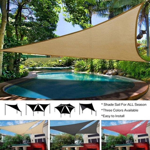 Hot Sale Sun Shelter Sunshade Protection Outdoor Canopy Garden Patio Pool Shade Sail Awning Camping Picnic Tent