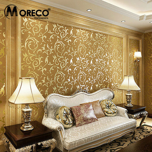 Moreco Fashion European Style 3D Wallpaper Wall Paper Rolls TV
