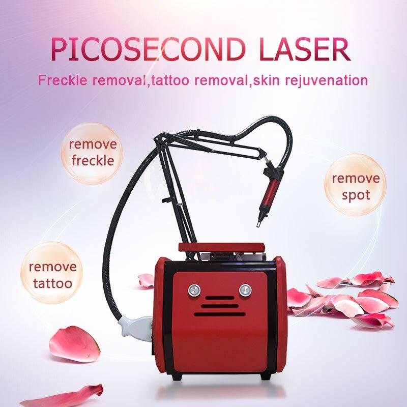 Machine de beauté de Laser pour le retrait de tatouage Machine portative de beauté de Pico de Laser de Nd Yag 755 1320 1064 532nm picoseconde