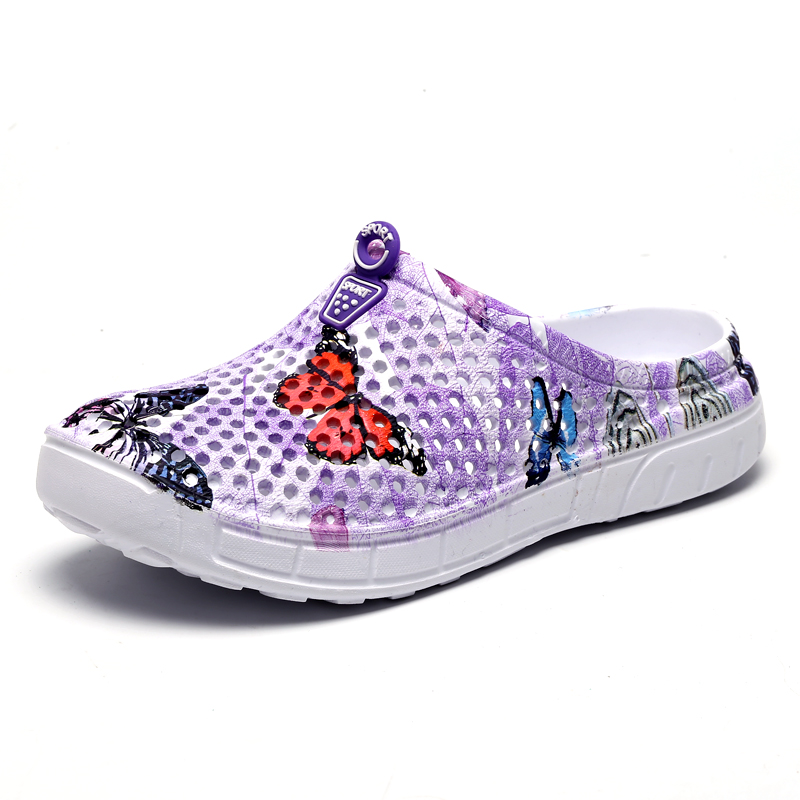 2018 womens casual Clogs Breathable beach sandals valentine slippers summer slip on women flip flops shoes home shoes for women 4