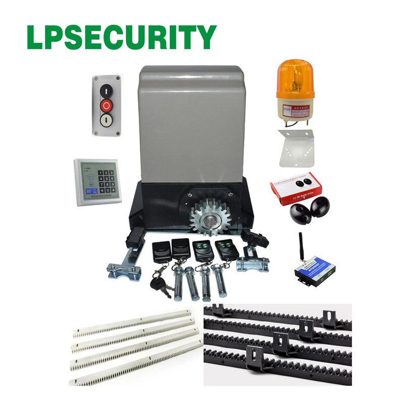 LPSECURITY 1200kg/1500kg 6m/7m nylon racks automatic electric gate opener motor engine with 4 remote controls with optional part craftsman automatic feed spool with nylon line replacement 71 85942
