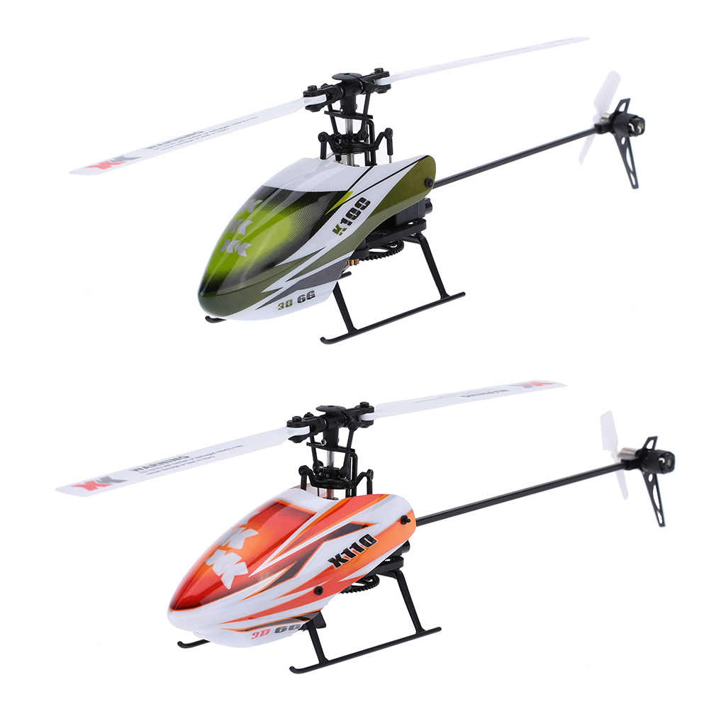 XK K100 OF K110 6CH Flybarless 3D 6g Systeem afstandsbediening speelgoed Borstelloze Motor RC Helicopter RTF