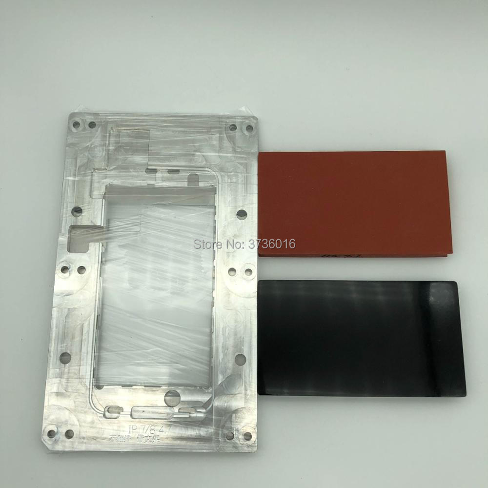 YMJ plastification moule pour iphone 7 pour iphone 8 verre fit oca polarisant film stratification avec Un Moule Deux bloc de Caoutchouc