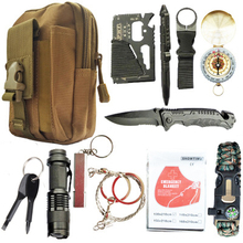 Dorp shipping 12 in 1 survival kit Set Outdoor Camping Trave