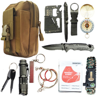 Dorp shipping 12 in 1 survival kit Set Outdoor Camping Travel Multifunction First aid SOS EDC Emergency Supplies for Wilderness