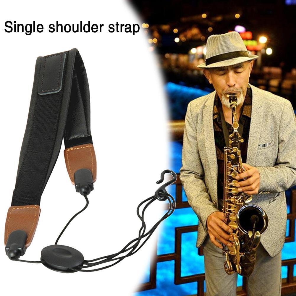 Saxophone Shoulder Strap Instrument Adjustable Genuine Saxophone Belt Neck Strap Lanyard Sax Accessories For Most Saxophone