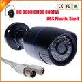 Новое поступление HD 960 H 1/4 '' ик-cmos камеры видеонаблюдения с ик-фильтр наблюдения 800TVL видео камеры безопасности ABS пластиковый корпус