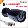 Nueva llegada HD 960 H 1/4 '' CMOS CCTV cámara con filtro de corte IR vigilancia 800TVL cámara de vídeo de seguridad carcasa de plástico ABS