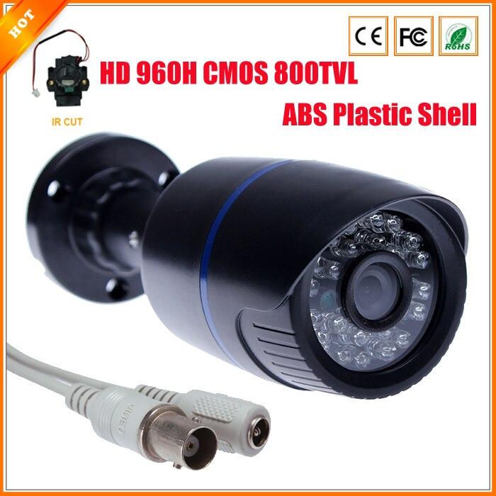 imágenes para Nueva llegada HD 960 H 1/4 '' CMOS CCTV cámara con filtro de corte IR vigilancia 800TVL cámara de vídeo de seguridad carcasa de plástico ABS