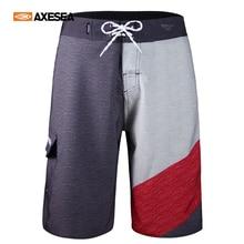 Swimwear AXESEA Shorts Surf-Board Beach-Pants Quick-Dry Pocket Men Breathable 21-Inch