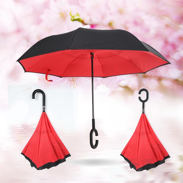 Double Layer Windproof Reverse Umbrella