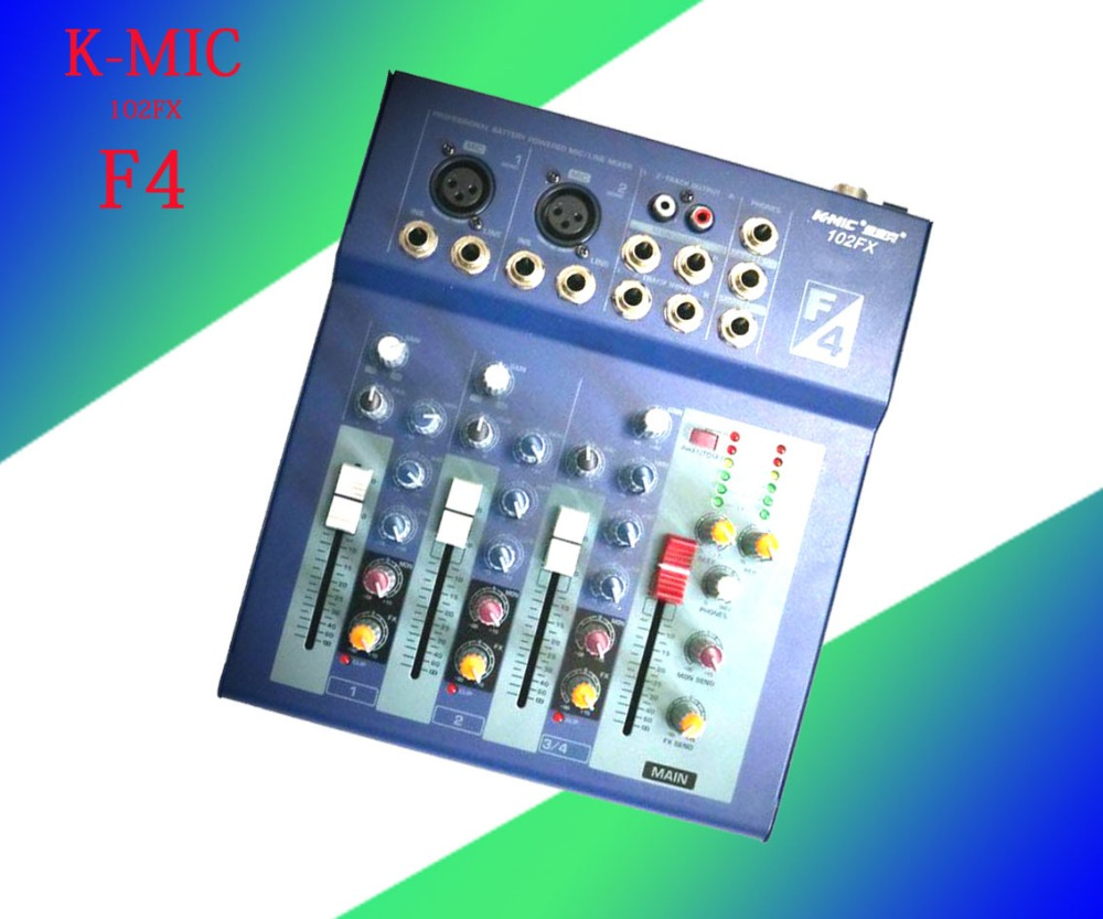 ФОТО K-mic 102 FX F4 mixer 4 channel mixer with power amplifier
