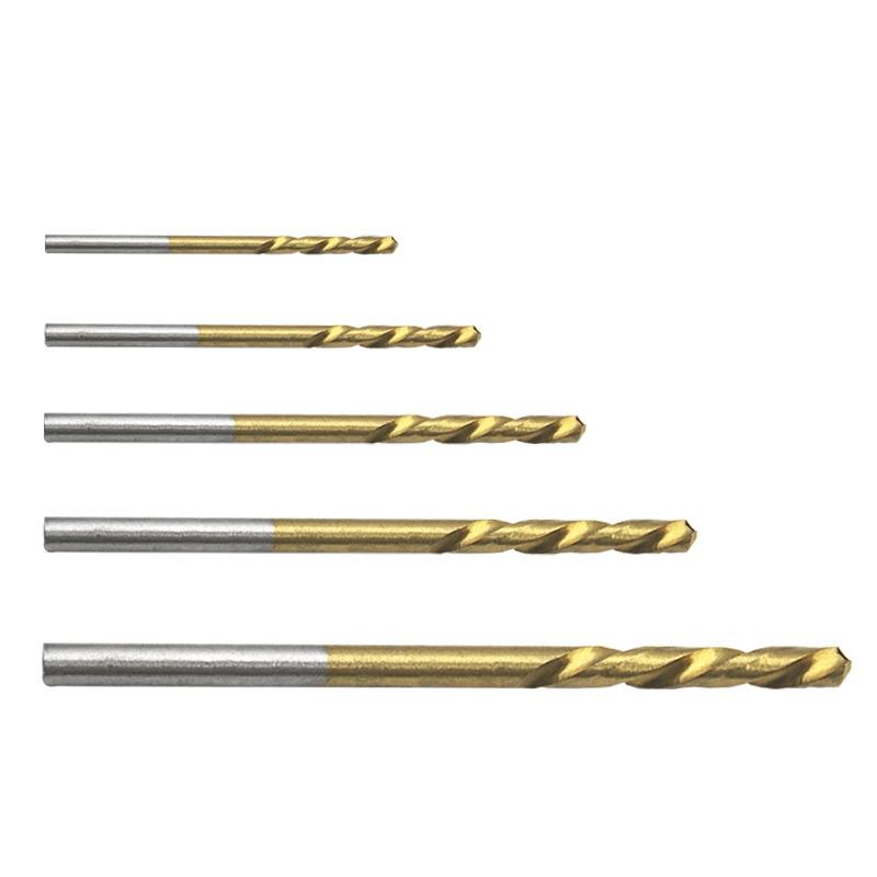 Foret en acier rapide, 50 pièces revêtues de titane HSS, ensemble de mèches 1mm 1.5mm 2mm 2.5mm 3mm