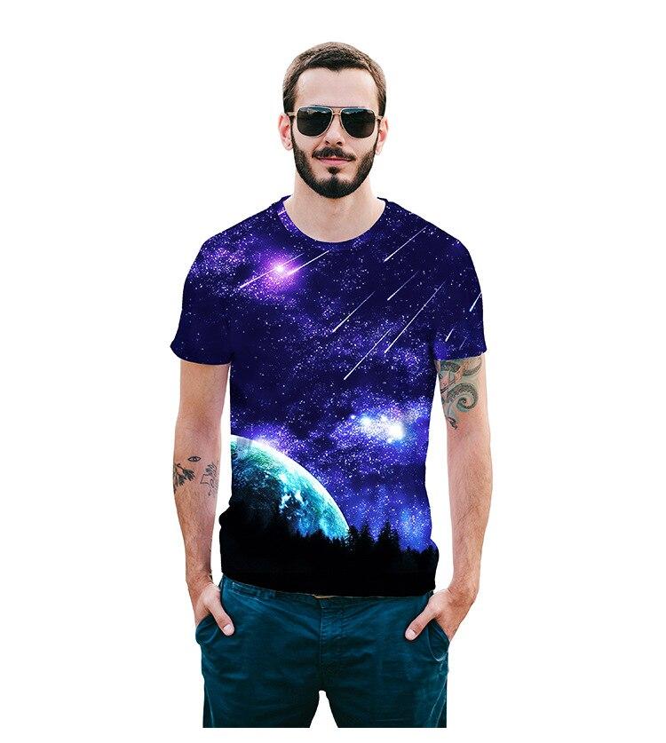 Mr.1991INC Метеор печати футболка для мужчин/женщин 3D футболка метеорный поток повседневные топы футболки летняя мужская футболка S