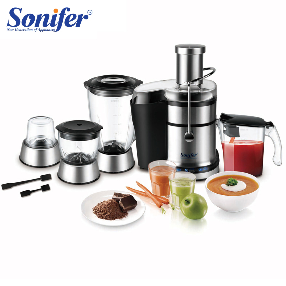Multifunctional Food Processor High Power Juicer Food Mixer Stirrer Electronic Intelligent Control Home Standing 220V Sonifer-in Food Processors from Home Appliances    1