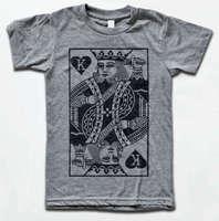 King of Hearts T Shirt Vintage Tri Blend Tee Suicide King, Poker, Joker