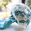 24 cm ramos de novia ramo de novia ramo de la flor broche de diamantes de imitación cristallo sposa mariage bruidsboeket ramo Broche de Flores