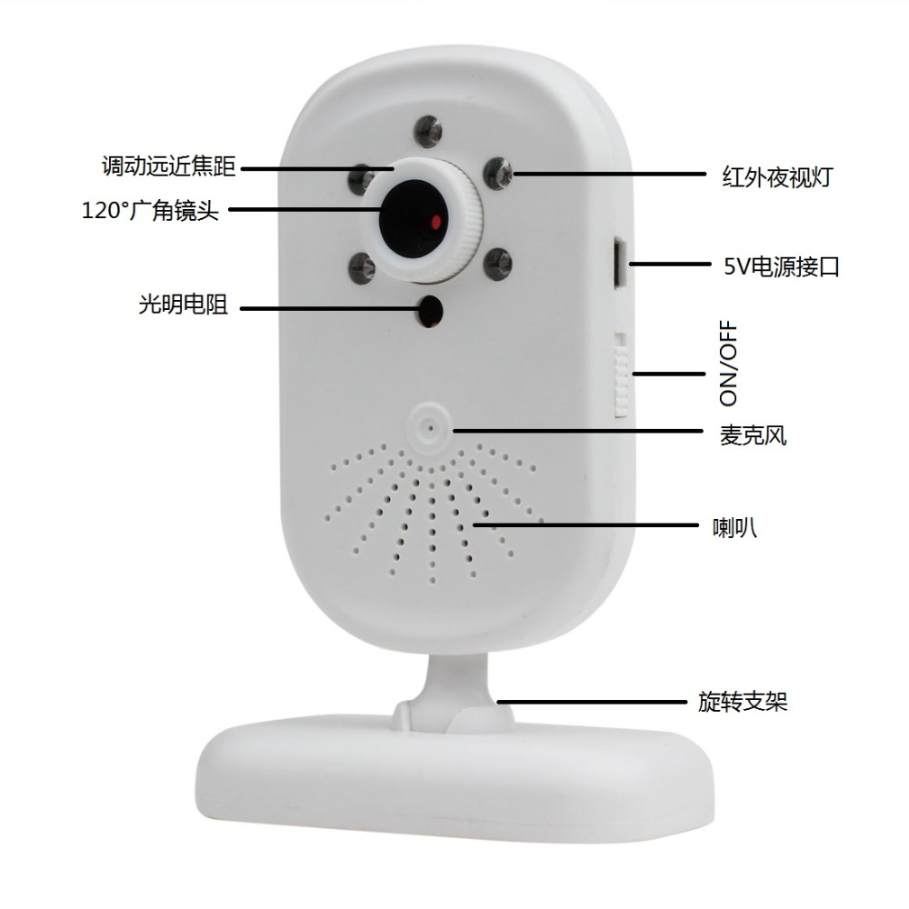 2.8 Inch  120 Degree Wide Angle  Baby Monitor IR Night Vision Wireless Intercom System2.8 Inch  120 Degree Wide Angle  Baby Monitor IR Night Vision Wireless Intercom System