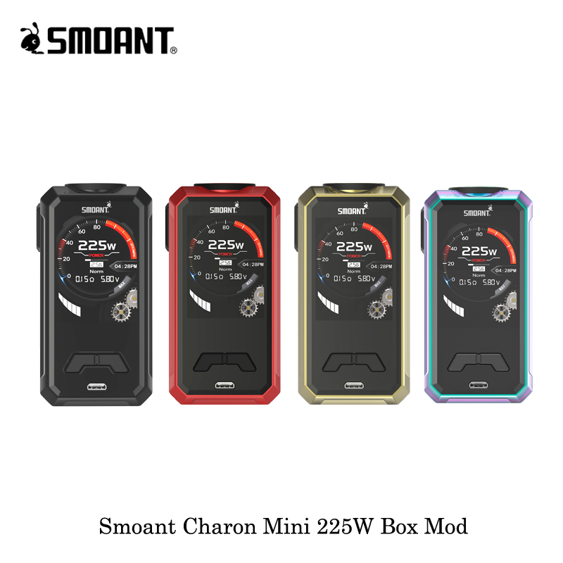 electronic cigarettes 225W Smoant Charon Mini Box Mod Vape Vaporizer Powered By Dual 18650 Battery VS