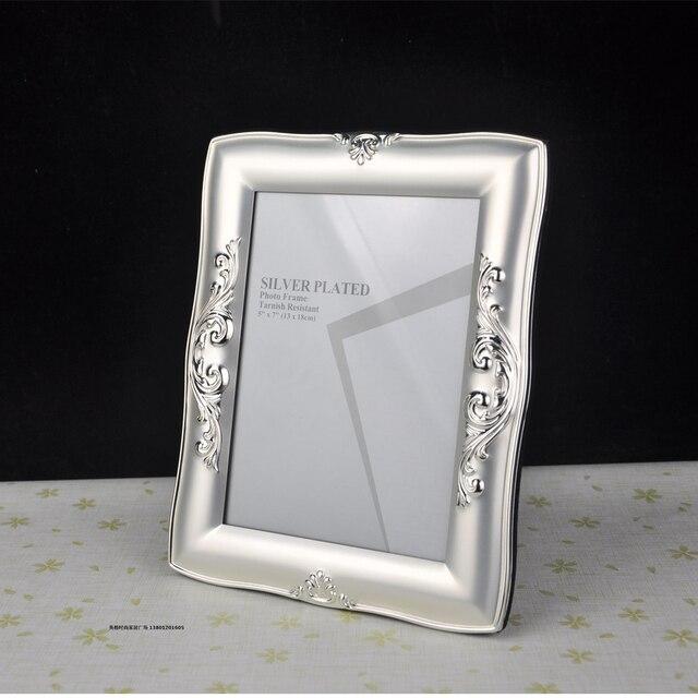 Buena calidad de lujo de plata metal Marcos imagen Marcos s mpf003 ...