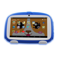 7 Inch Android4.4 Kids Tablets Pc Bluetooth Installed Best gifts for Children Rubber sheath cover Quad Core More learning App