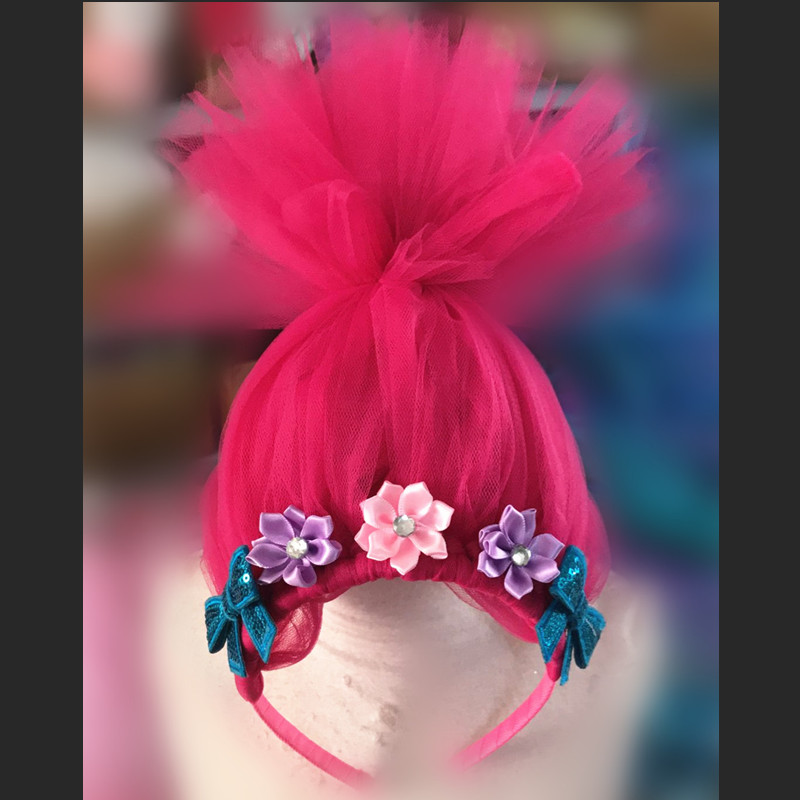 Image 5 - Troll Poppy Tutu Dress Baby Girl Tulle Princess Dress Kids Halloween Cosplay Costume Girl Festival Birthday Party Cartoon Dressprincess dresstutu dresscartoon dress -