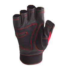 SHUNMIER Wk-05 Half Finger Men Waterproof Pu Sport Durable Anti-Slip Anti-Cut Fishing Gloves Pesca Tackle Four Seasons Insulated