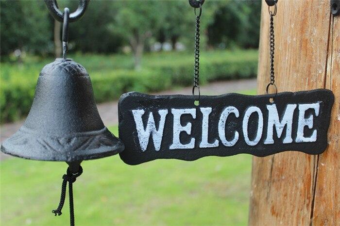 Европейский талисман кованого железа ужин колокольчик три утки Добро пожаловать Сельский садовый настенный подвесной декор Детская комната украшение дверной Звонок - 5