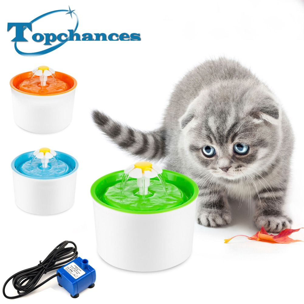 High Quality Flower Style New Automatic Cat Dog Kitten Water Drinking Fountatin Pet Bowl Dish Drink Filter