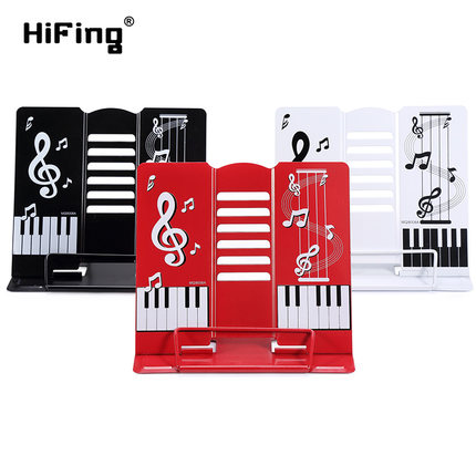 HiFing Portable Foldable Music Guitar Piano Stand Shelf Metal Holder For Musical Instrument Ipad Mobile Phone Book Magazine russia seller wholesale white m903 flanger fl 05 professional telescopic foldable small music stand musical instrument gig bag