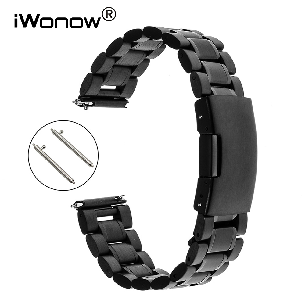 Stainless Steel Watch Band 18mm 20mm for DW Daniel Wellington Quick Release Strap Press Buckle Wrist Belt Bracelet Black Silver wrist watch band of fossil