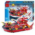 339pcs 2016 new City Fireboat Rescue station Model Building Blocks Fire Boat Children toys Compatible with lego