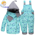 S-135 Hooded Winter Boys Girls Snowsuit Toddler Kids Down Coat Ski Suit Set Outerwear Clothes Down Jacket for Children Clothing