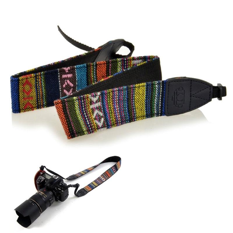 Vintage Nylon Camera Shoulder Strap Hippie Durable Neck Female Belt For Nikon D7200 Canon Sony SLR DSLR Micro Camera Accessories