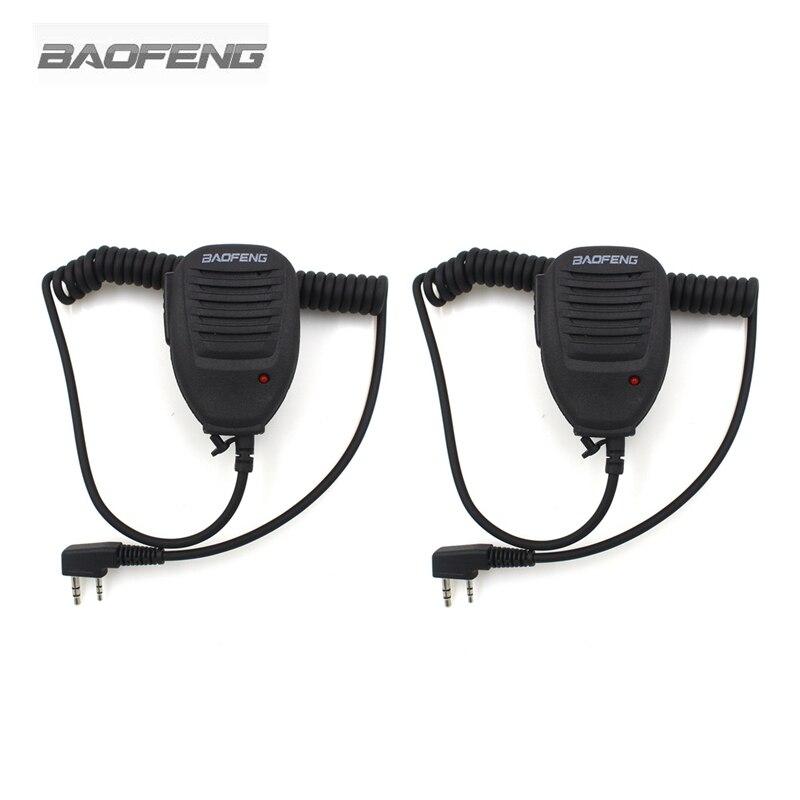2-PCS Baofeng Speaker Mic Handheld Microphone For Kenwood BAOFENG UV-5R BF-888S UV-3R+ Walkie Talkie Radio