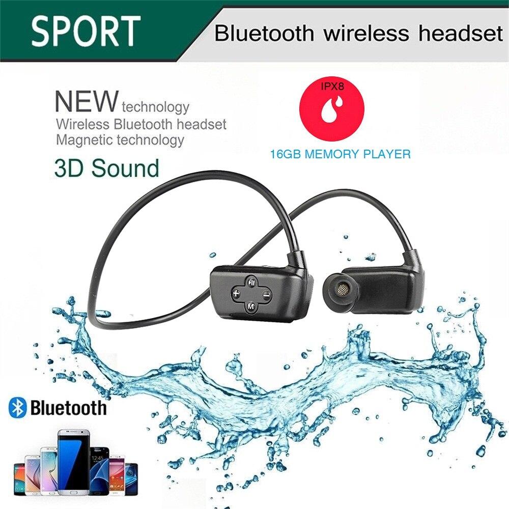Hifi-player Motiviert Neue Kopf-montiert Bluetooth Wasserdichte Mp3 Musik Player Kopfhörer Unterwasser Sport Bluetooth Mit Rekord Bluetooth Für Schwimmen