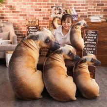 New Creative 3D Vivid Printed Full Body Dog Shape Animal Tiger Wolf Dog Cute Modern Office Hug Gift Cushion Sofa Throw Pillow creative 3d akita home decoration dog shape design pillow