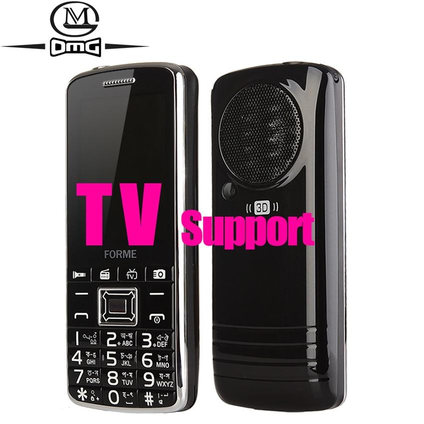 TV mobile phone big keyboard speaker FM Radio Dual SIM card 2500mAh battery cell phones