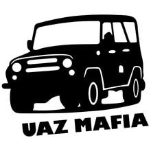 CK2224#15*18cm UAZ MAFIA funny car sticker vinyl decal silver/black car auto stickers for car bumper window car decorations ck2387 15 20cm wagon mafia 2111 car sticker vinyl decal silver black car auto stickers for car bumper window car decoration
