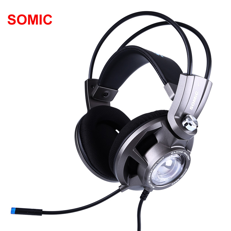 Somic G955 USB 7 1 Gaming Headset Headphones with Microphone Noise Cancelling Stereo Bass Vibration headband